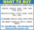 WANT TO BUY: VARIOUS DRILL RIGS, RIG PARTS, DRILL PIPE