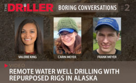 Remote Water Well Drilling with Repurposed Rigs in Alaska