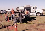 Cross Country Underground shown drilling at the recent HDD Rodeo event in Perry, Ga.